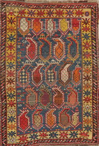 Pre 1900 Vegetable Dye Oushak Turkish Rug Wool 3x5
