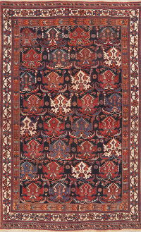 Pre-1900 Antique Vegetable Dye Kazak Oriental Area Rug 5x8