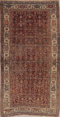 Pre-1900 Antique Vegetable Dye Bidjar Halvaie Persian Rug 4x8