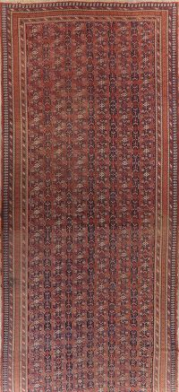 Large Antique Vegetable Dye Afshar Persian Runner Rug 9x22