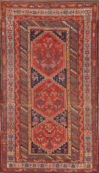 Pre-1900 Antique Vegetable Dye Bidjar Persian Area Rug 5x8