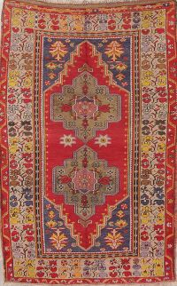 Antique Vegetable Dye Anatolian Turkish Area Rug 5x7