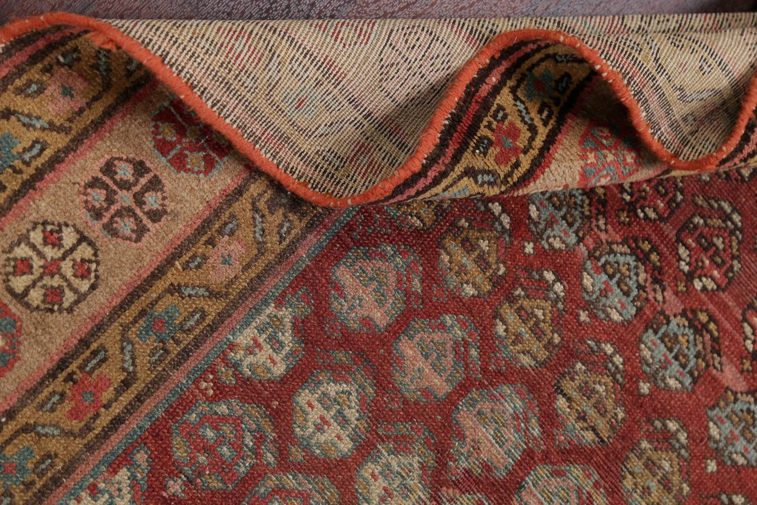 Pre-1900 Antique Vegetable Dye Malayer Persian Rug 3x8 image 19