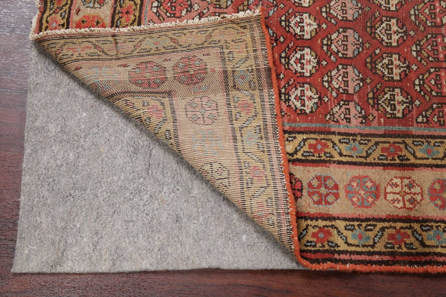 Pre-1900 Antique Vegetable Dye Malayer Persian Rug 3x8 image 7