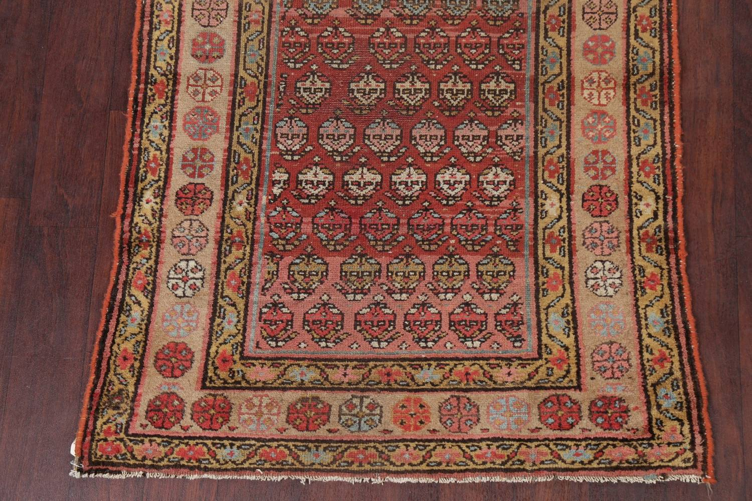 Pre-1900 Antique Vegetable Dye Malayer Persian Rug 3x8 image 8