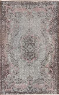 Antique Muted Distressed Aubusson Oriental Area Rug 6x10