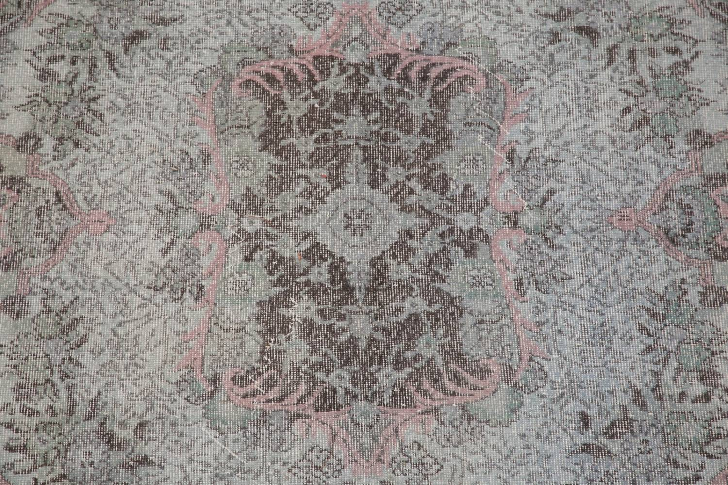 Antique Muted Distressed Aubusson Oriental Area Rug 6x10 image 4