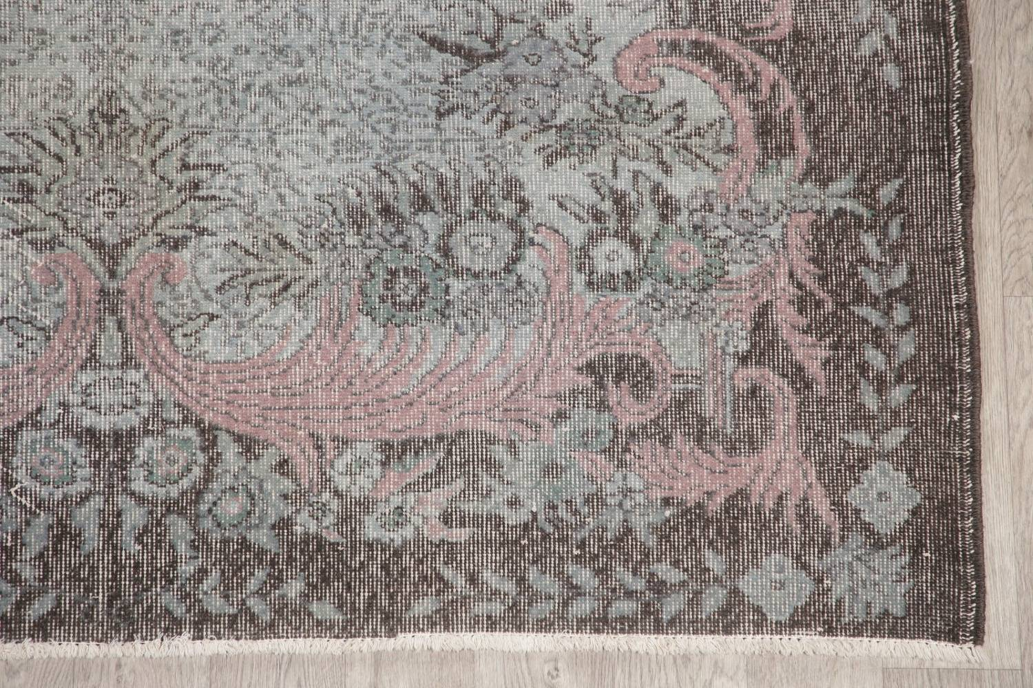 Antique Muted Distressed Aubusson Oriental Area Rug 6x10 image 5