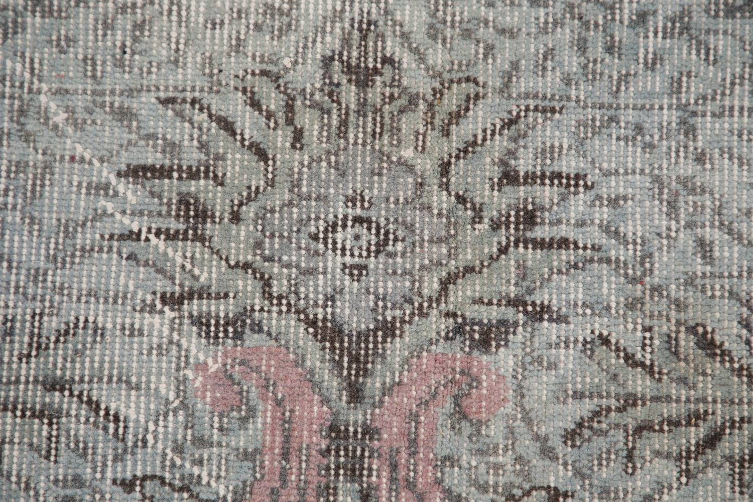 Antique Muted Distressed Aubusson Oriental Area Rug 6x10 image 9
