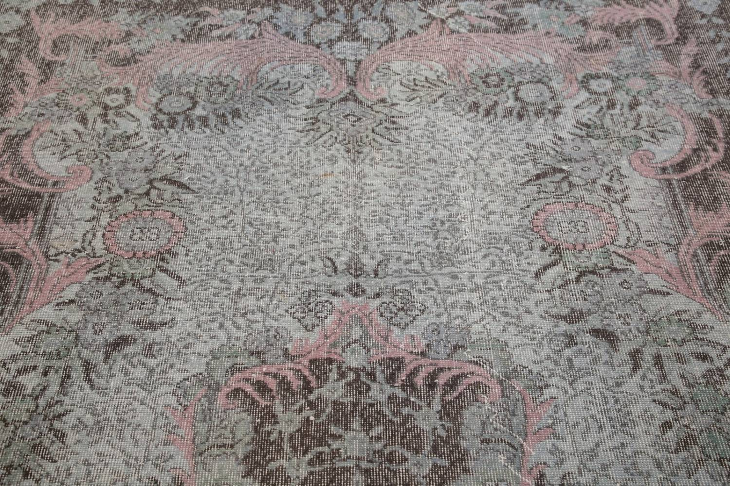 Antique Muted Distressed Aubusson Oriental Area Rug 6x10 image 13