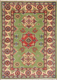 Green Super Kazak Oriental Area Rug 2x3