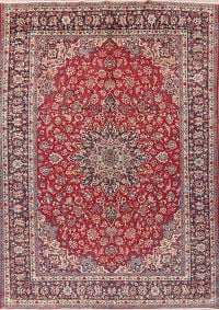 Vintage Floral Red Najafabad Persian Area Rug Wool 10x13