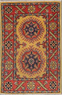 Geometric Super Kazak Area Rug 2x3