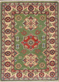 Green 2x3 Super Kazak Oriental Area Rug