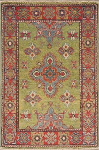 Green Geometric 2x3 Super Kazak Area Rug