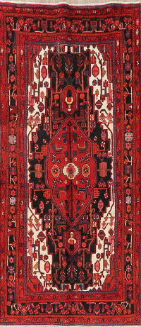 Black Tribal Hamedan Persian Area Rug 5x10