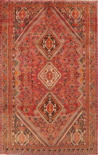 Vintage Tribal Abadeh Persian Area Rug 6x9