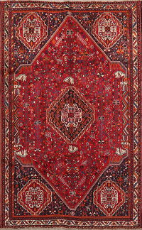 Vintage Tribal Red Lori Persian Area Rug Wool 5x8