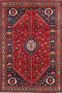Vegetable Dye Vintage Red Lori Persian Area Rug Wool 7x10