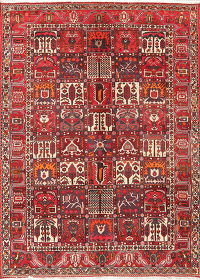Garden Design Red Bakhtiari Persian Area Rug Wool 7x10