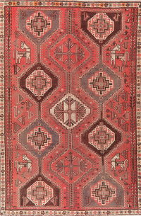 Antique Vegetable Dye Lori Persian Area Rug Wool 6x9