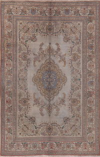 Muted Distressed Vintage Tabriz Persian Area Rug Wool 6x10