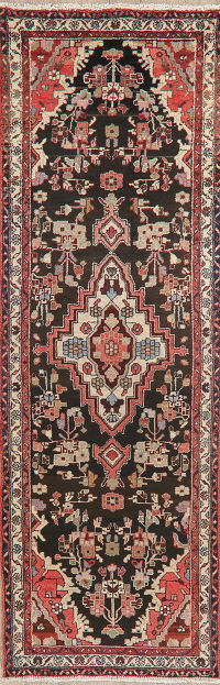 Vintage Floral Malayer Persian Runner Rug Wool 3x9