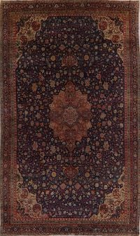 Antique Floral Sultanabad Persian Large Rug 9x15