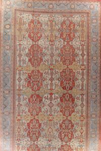 Palace Size Pre-1900 Antique Sultanabad Persian Rug 14x24