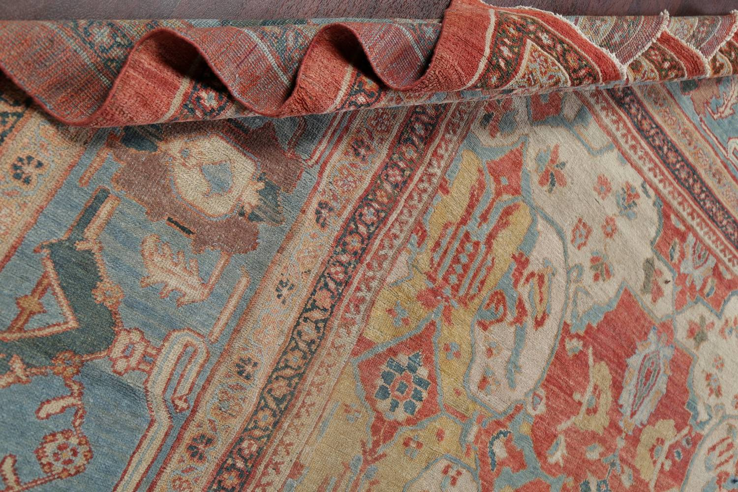 Palace Size Pre-1900 Antique Sultanabad Persian Rug 14x24 image 19