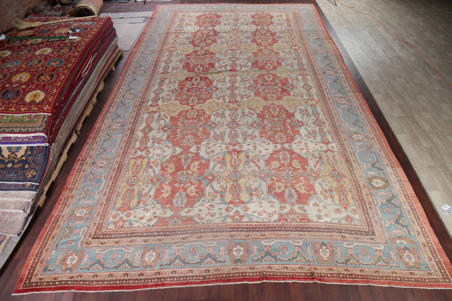 Palace Size Pre-1900 Antique Sultanabad Persian Rug 14x24 image 2