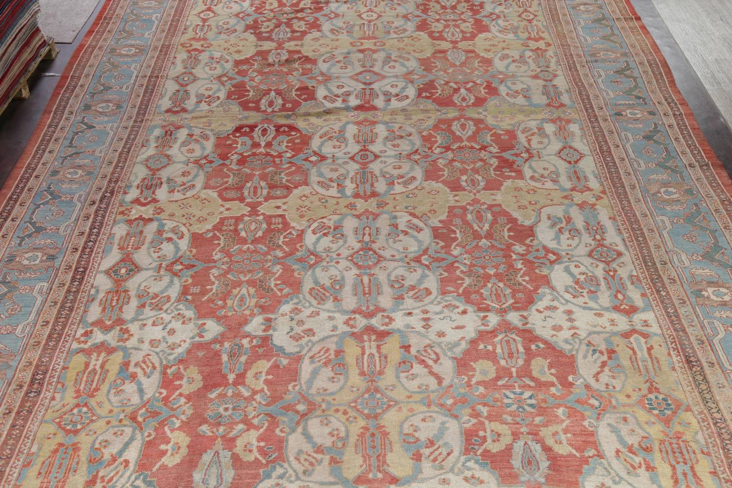 Palace Size Pre-1900 Antique Sultanabad Persian Rug 14x24 image 3