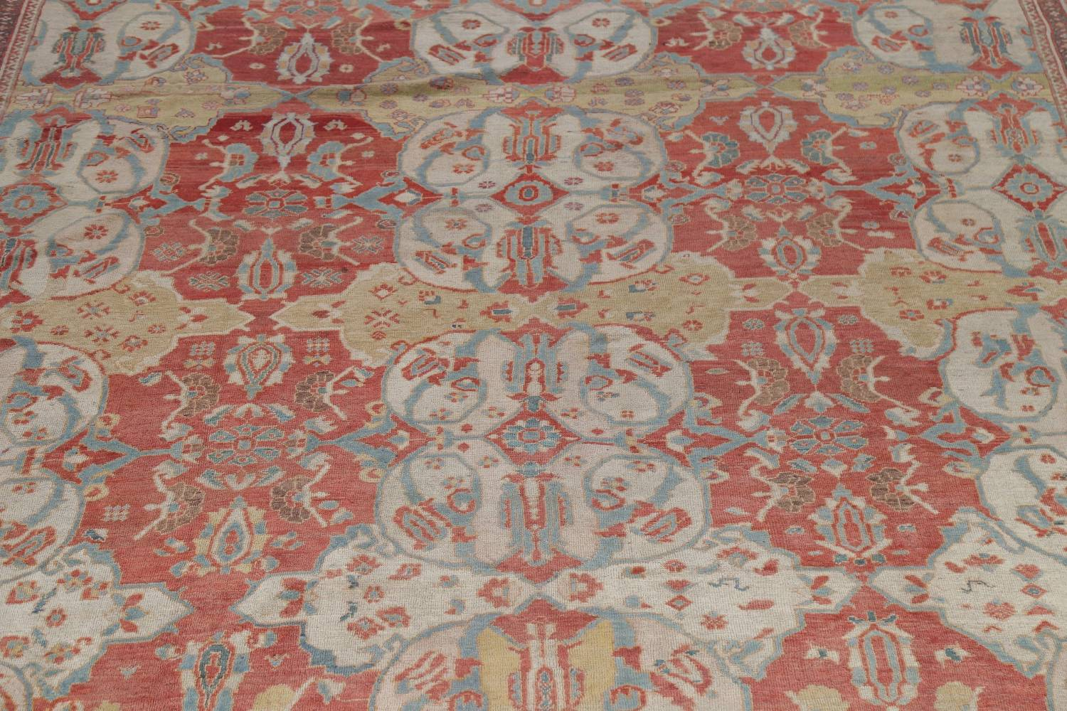 Palace Size Pre-1900 Antique Sultanabad Persian Rug 14x24 image 4