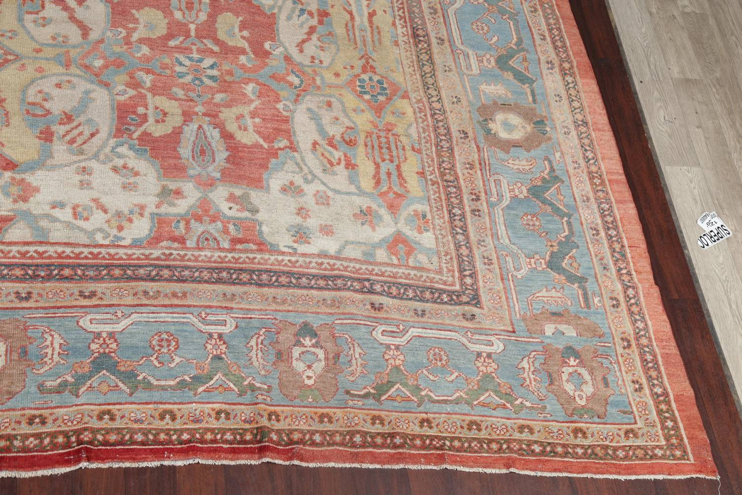 Palace Size Pre-1900 Antique Sultanabad Persian Rug 14x24 image 5