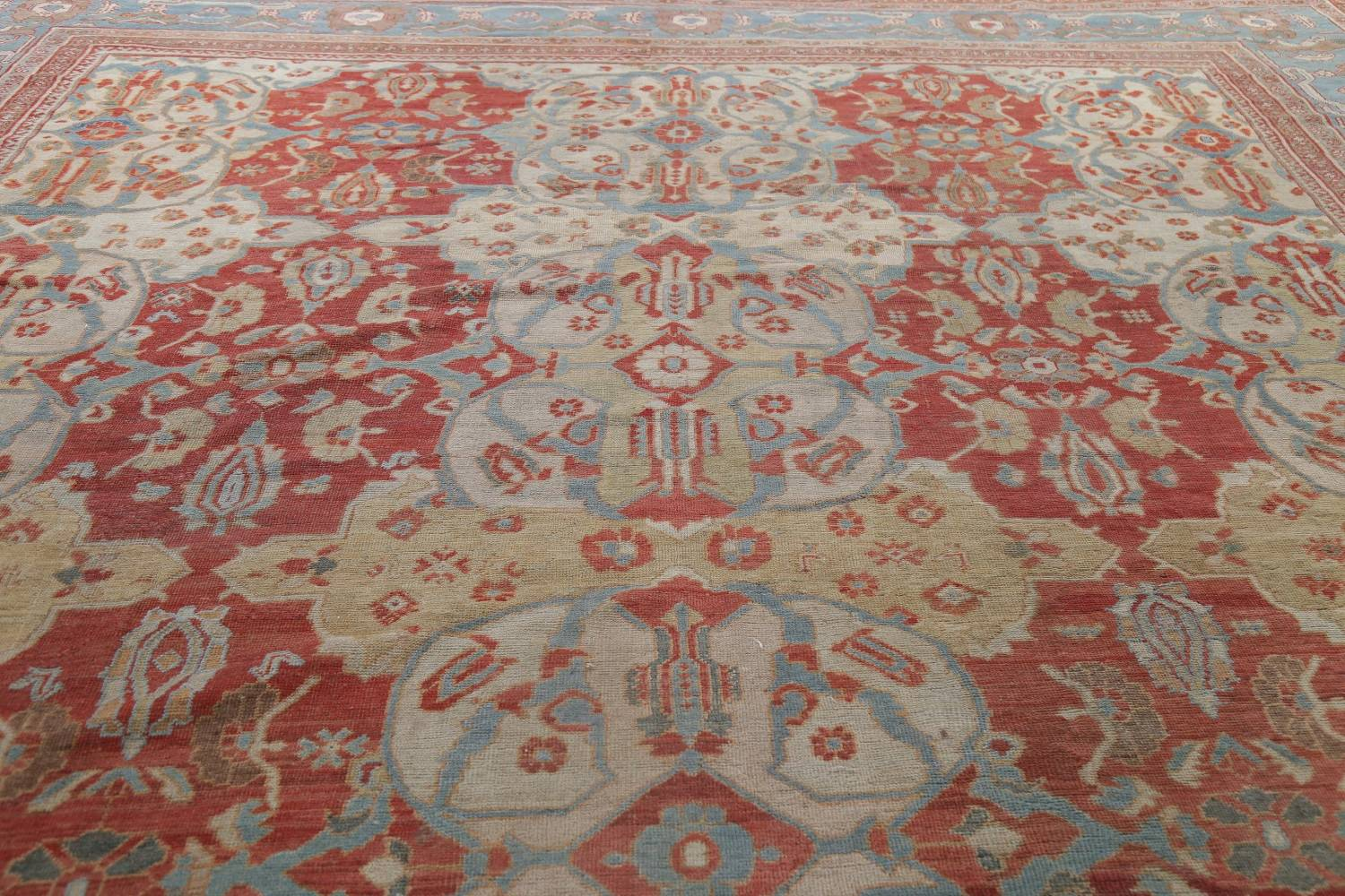 Palace Size Pre-1900 Antique Sultanabad Persian Rug 14x24 image 15