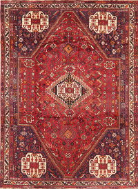 Antique Tribal Red Lori Persian Area Rug Wool 7x9