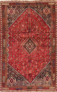Antique Tribal Red Lori Persian Area Rug Wool 6x9