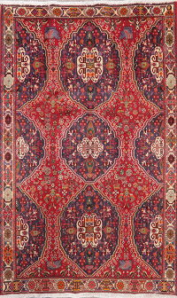 Vintage Tribal Geometric Abadeh Persian Area Rug Wool 6x9