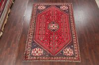 Vintage Tribal Red Shiraz Persian Area Rug Wool 7x10