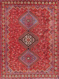 Vintage Tribal Red Bakhtiari Persian Area Rug Wool 7x10