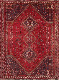 Vintage Red Tribal Abadeh Persian Area Rug Wool 7x10