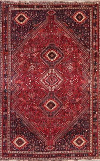 Vintage Tribal Red Lori Persian Area Rug Wool 6x10
