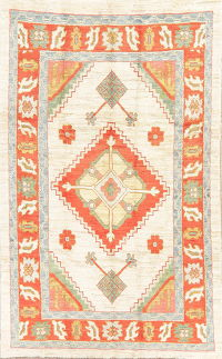 Geometric Oushak Turkish Oriental Area Rug Wool 6x9