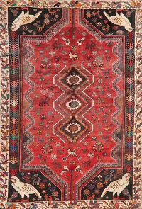 Vintage Animals Tribal Shiraz Persian Area Rug 6x9