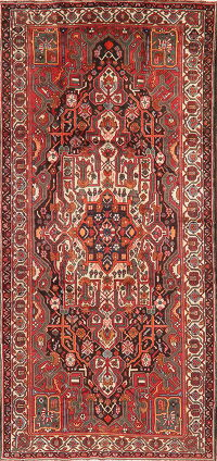 Geometric Bakhtiari Persian Area Rug Wool 5x11