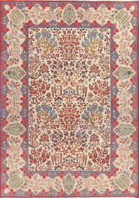 Vintage All-Over Floral Kashan Persian Area Rug Wool 8x11