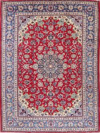 Floral Red Najafabad Persian Area Rug Wool 10x13