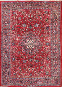 Floral Red Mahal Persian Area Rug Wool 7x10