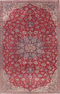 Vintage Floral Red Najafabad Persian Area Rug Wool 6x10