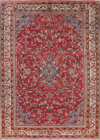 Vintage Floral Red Sarouk Persian Area Rug 9x12